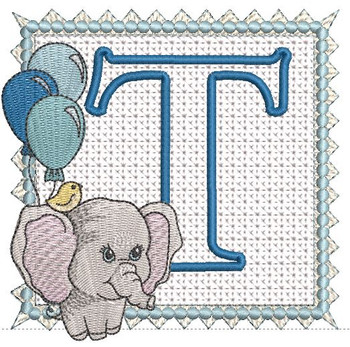 Ellie Font Applique - T - Embroidery Design