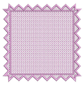 "Motif Knockdown Square Frame Fits  5x7, 6x11 and 8x8"" Hoop - Instant Downloadable Machine Embroidery"
