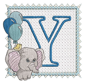 Ellie Font Applique - Y - Embroidery Design