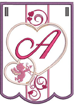 Valentine Bunting ABCs - A - Embroidery Designs