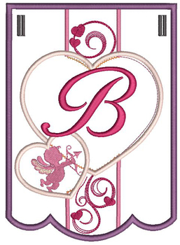 Valentine Bunting ABCs - B - Embroidery Designs