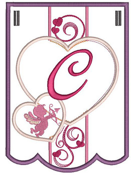 Valentine Bunting ABCs - C - Embroidery Designs