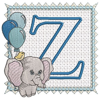 Ellie Font Applique - Z - Embroidery Design