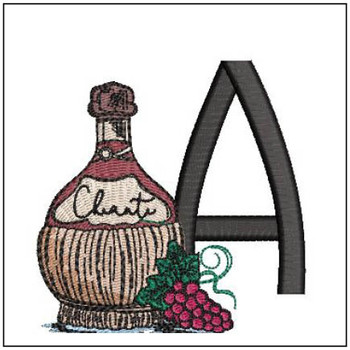 Bella Vino Font - A - Embroidery Designs