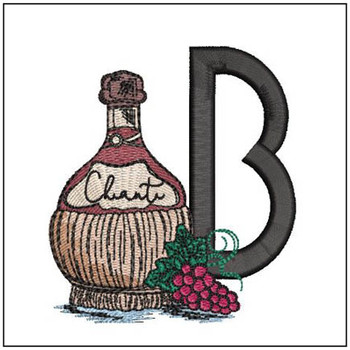 Bella Vino Font - B - Embroidery Designs