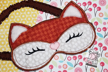 "Goodnight Fox Sleeping Mask - Fits a 5 by 7"" Hoop - Instant Downloadable Machine Embroidery"
