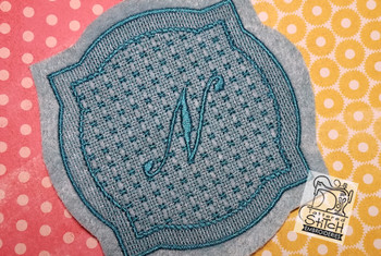 "Motif Knockdown Decorative Edge Frame 2 - Fits 4x4, 5x7, 7x11 and 8x8"" Hoop - Instant Downloadable Machine Embroidery"