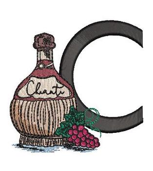 Bella Vino Font - C - Embroidery Designs
