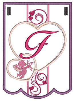 Valentine Bunting ABCs - F - Embroidery Designs
