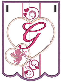 Valentine Bunting ABCs - G - Embroidery Designs