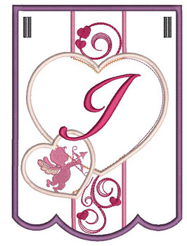 Valentine Bunting ABCs - I - Embroidery Designs