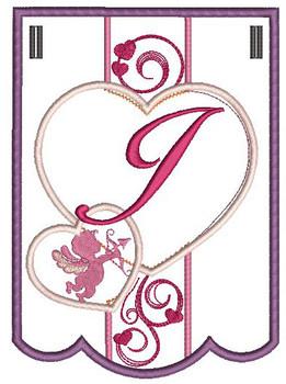 Valentine Bunting Bundle ABCs - J - Embroidery Designs