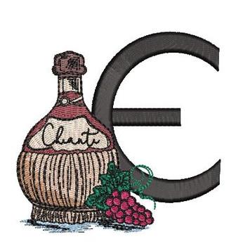 Bella Vino Font - E - Embroidery Designs