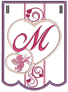 Valentine Bunting ABCs - M - Embroidery Designs