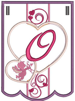 Valentine Bunting ABCs - O - Embroidery Designs