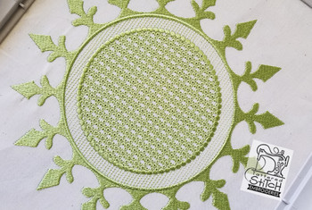"Motif Knockdown Fleur De Lis Circle - Fits 4x4, 5x7, 7x11 and 8x8"" Hoop - Instant Downloadable Machine Embroidery"