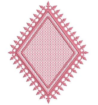 "Motif Knockdown Fleur De Lis Diamond - Fits 4x4, 5x7, 7x11 and 8x8"" Hoop - Instant Downloadable Machine Embroidery"