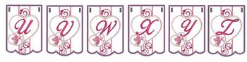Valentine Bunting Bundle ABCs - U-Z - Embroidery Designs
