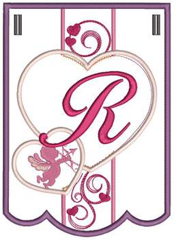 Valentine Bunting ABCs - R - Embroidery Designs