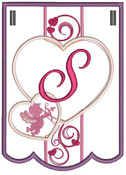 Valentine Bunting ABCs - S - Embroidery Designs