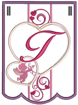 Valentine Bunting ABCs - T - Embroidery Designs