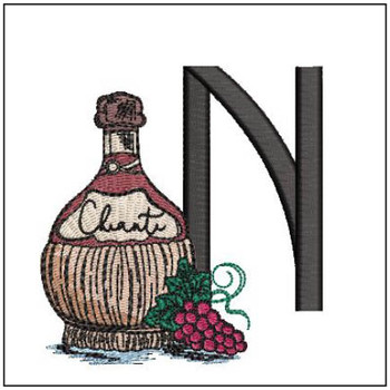 Bella Vino Font - N - Embroidery Designs