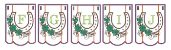 Shamrock Charm Bunting Bundle ABCs- F-J - Embroidery Designs