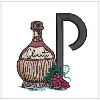 Bella Vino Font - P - Embroidery Designs