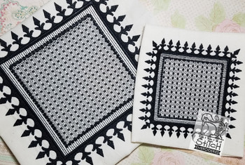 "Motif Knockdown Fleur De Lis Square - Fits  5x7, 6x11 and 8x8"" Hoop - Instant Downloadable Machine Embroidery"