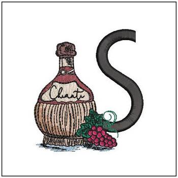 Bella Vino Font - S - Embroidery Designs