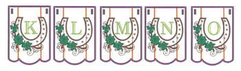 Shamrock Charm Bunting Bundle ABCs- K-O - Embroidery Designs