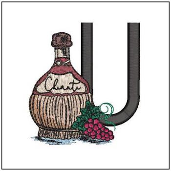 Bella Vino Font - U - Embroidery Designs