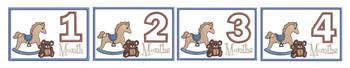 Teddy Bear & Rocking Horse Monthly Milestones - 1-4