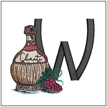 Bella Vino Font - W - Embroidery Designs