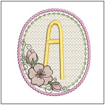 Cherry Blossom Font - A - Embroidery Design