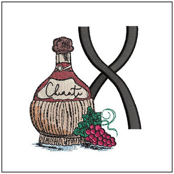 Bella Vino Font - X - Embroidery Designs