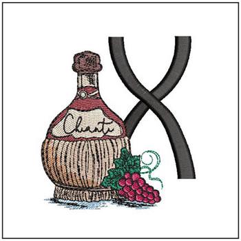 Bella Vino Font - X - Embroidery Designs