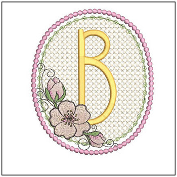 Cherry Blossom Font - B - Embroidery Design