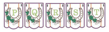Shamrock Charm Bunting Bundle ABCs- P-T - Embroidery Designs