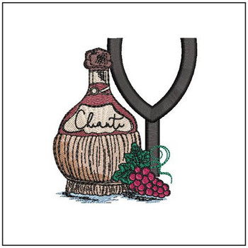 Bella Vino Font - Y - Embroidery Designs