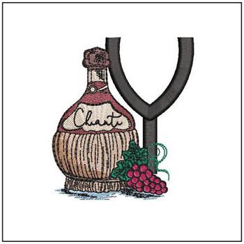 Bella Vino Font - Y - Embroidery Designs
