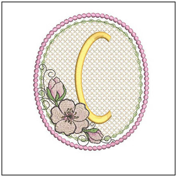 Cherry Blossom Font - C - Embroidery Design