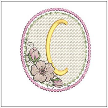 Cherry Blossom Font - C - Embroidery Design