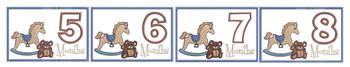 Teddy Bear & Rocking Horse - 5-8 - Monthly Milestones