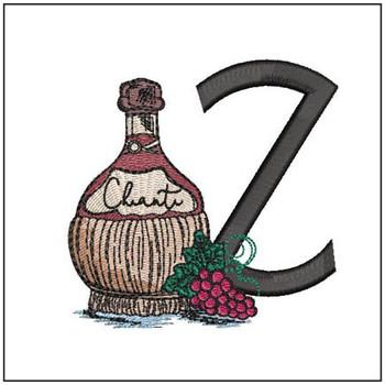 Bella Vino Font - Z - Embroidery Designs