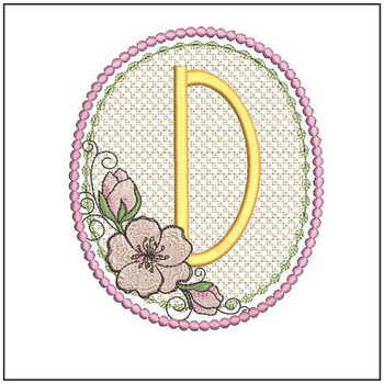 Cherry Blossom Font - D - Embroidery Design