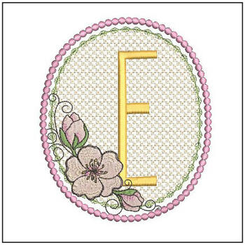 Cherry Blossom Font - E - Embroidery Design