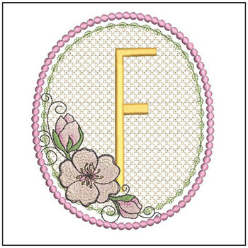 Cherry Blossom Font - F - Embroidery Design