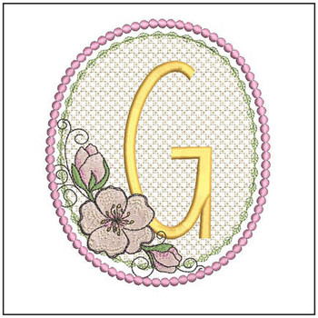 Cherry Blossom Font - G - Embroidery Design