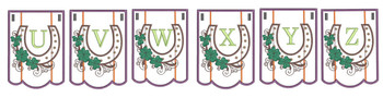 Shamrock Charm Bunting Bundle ABCs- U-Z - Embroidery Designs